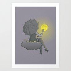 Drawin' in the rain Art Print