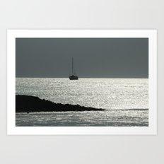 The crystal ship Art Print