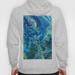 Fluid Nature - Marine Odyssey - Abstract Acrylic Art Hoody