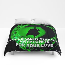 KRYPTONITE LOVE Comforters