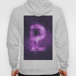 Planet Pluto Symbol. Pluto sign. Abstract night sky background. Hoody