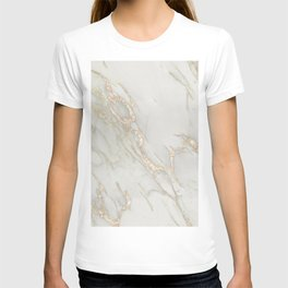 Marble Love Bronze Metallic T-shirt