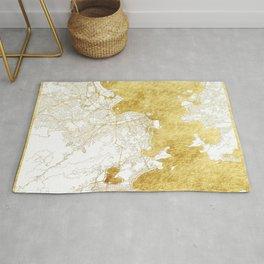 Rio de Janerio Map Gold Rug