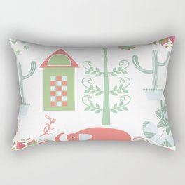 Travel pattern 4v Rectangular Pillow