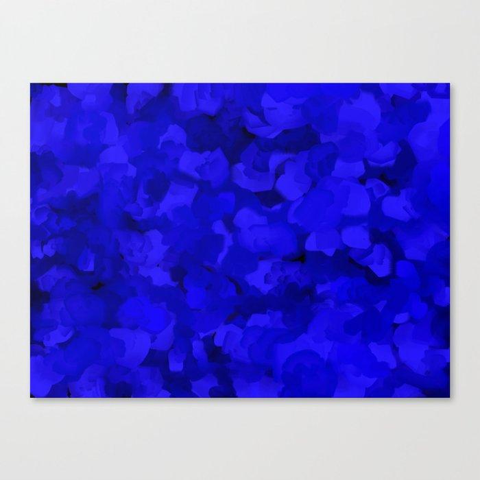 Rich Cobalt Blue Abstract Leinwanddruck