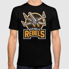 Republic Rebels - Black Mens Fitted Tee Black X-LARGE