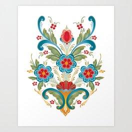 Nordic Rosemaling Art Print