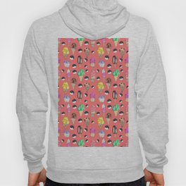 Ice Cream Pattern-Coral Color Hoody