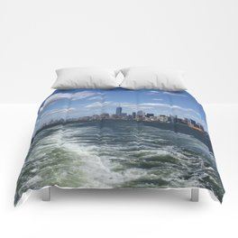 New York City Skyscrapers Landscape Comforters