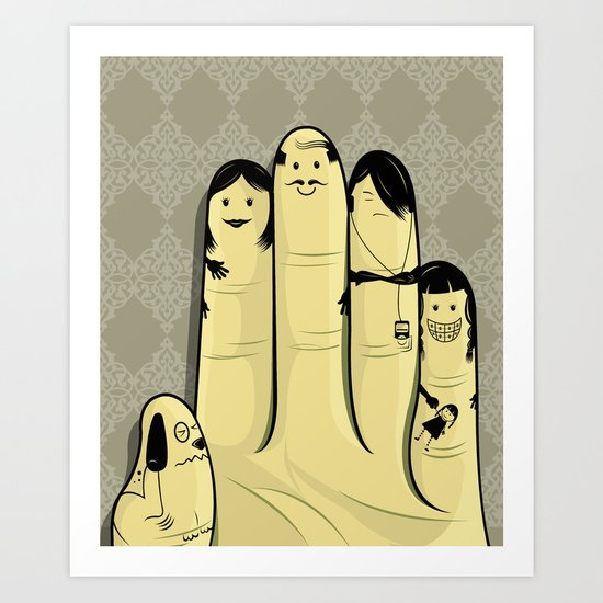 The finger family Art Print