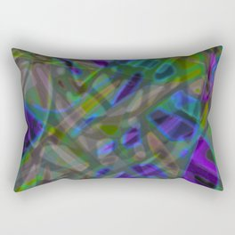 Colorful Abstract Stained Glass G301 Rectangular Pillow