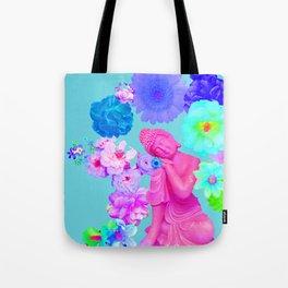 Pink Buddha Tote Bag