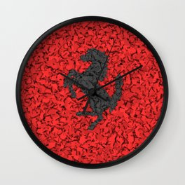 Red Homage to Ferrari Wall Clock