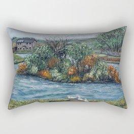 Cefn Golau Pond Rectangular Pillow