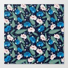 Blue Botanical Canvas Print