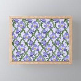 Purple Fresia Print Framed Mini Art Print