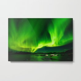 Northern Lights Aurora Borealis Metal Print