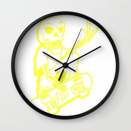 skate skelleton Wall Clock