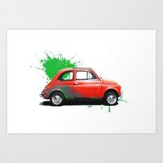 Italia - Fiat 500 retro Art Print
