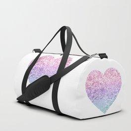 Unicorn Girls Glitter Heart #1 #shiny #pastel #decor #art #society6 Duffle Bag