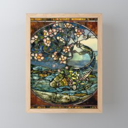 "John La Farge ""The Fish"" (or ""The Fish and Flowering Branch"") window, 1890 Framed Mini Art Print"