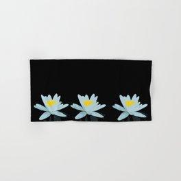 Waterlily Flowers On Black Background #decor #society6 #buyart Hand & Bath Towel