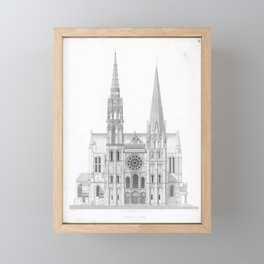 Cathedrale De Chartres Chartres Cathedral Framed Mini Art Print