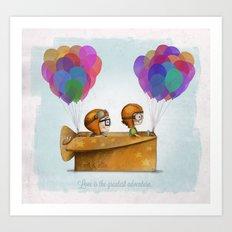UP Pixar— Love is the greatest adventure  Art Print