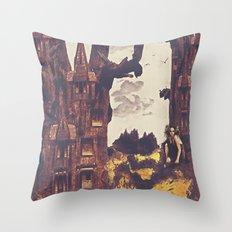 Dollhouse Forest Fantasy Throw Pillow