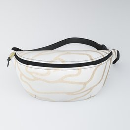 Flower in White Gold Sands Fanny Pack