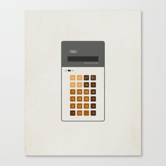 "Vintage Calculator Series: ""Alpha"" Canvas Print"