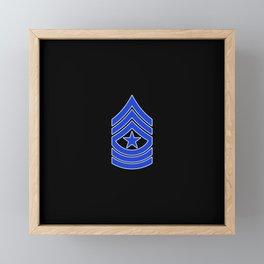 Sergeant Major (Police) Framed Mini Art Print