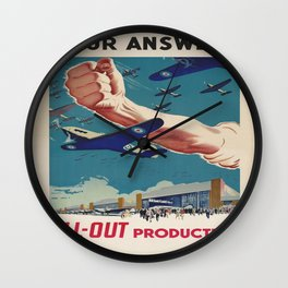 Vintage poster - All-Out Production Wall Clock