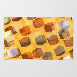 transparent cubes Rug