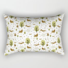 Squirrels in the forest Rectangular Pillow