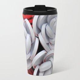 Anthurium Rose Flowers Paper Quilling Travel Mug