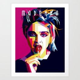 Madonna Queen of Pop Art Print