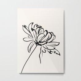 sketch art flower Metal Print