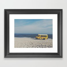 Kismet Beach Bus Framed Art Print
