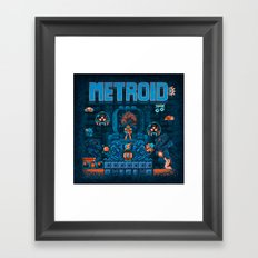 Metroids Framed Art Print
