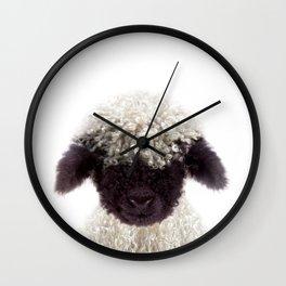 Baby Lamb, Baby Animals Art Print By Synplus Wall Clock