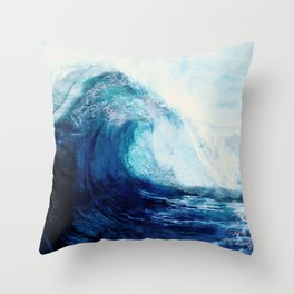 Waves II Throw Pillow