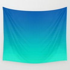 Teal Mint Ombre Wall Tapestry