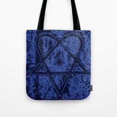 Nightfall Blue Heartagram Tote Bag