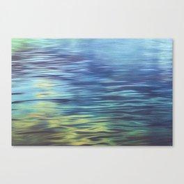 Mountain Lake Water Art Canvas Print
