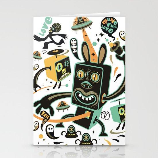 Little Black Magic Rabbit Stationery Cards