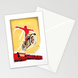 1929 Motosacoche Motorcycles Advertising Poster Stationery Cards