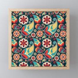 Geometric floral design Framed Mini Art Print