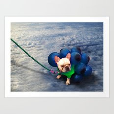 Up in the Clouds Art Print