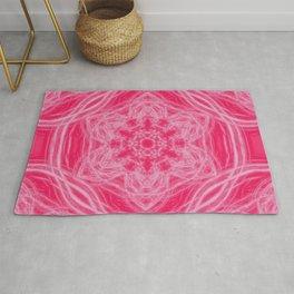 Elegant hot-pink kaleidoscopes Rug